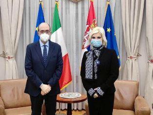 Belgrado: l'Ambasciatore Lo Cascio incontra il Ministro dell'Energia Mihajlovic