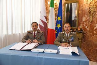 ITALIA-QATAR: NUOVO ACCORDO NEL SETTORE DIFESA