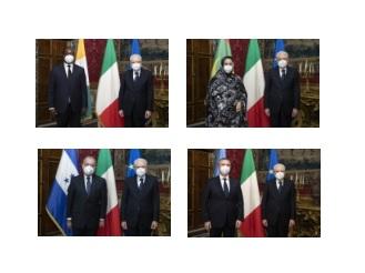 Quirinale/ Mattarella riceve quattro nuovi ambasciatori