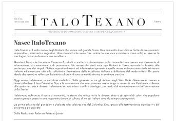 NASCE ITALOTEXANO: ONLINE IL NUOVO PERIODICO IDEATO DA VINCENZO ARCOBELLI (CTIM-CGIE)