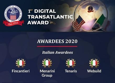 """Italia – Usa: AmCham assegna i """"Transatlantic Award"""""""