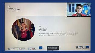 """Cavallari (Iila) a """"La Hora de EL PAcCTO"""": donne leader contro il crimine organizzato"""