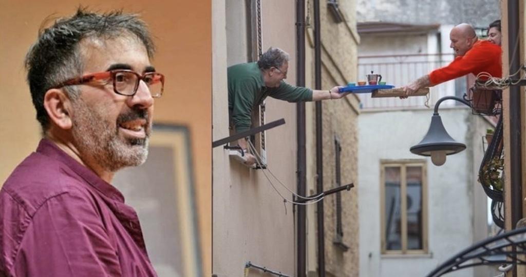 Un caffè scambiato tra le finestre di Vasto e condiviso con il mondo - di Massimiliano Gugole
