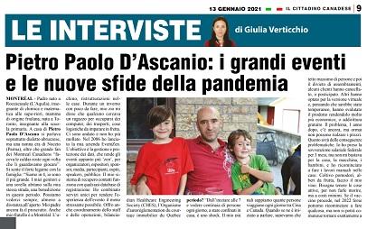 Pietro Paolo D'Ascanio: i grandi eventi e le nuove sfide della pandemia – di Giulia Verticchio