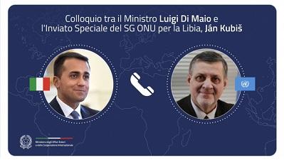 Libia: Di Maio a colloquio con il nuovo Inviato Speciale Onu Ján Kubiš
