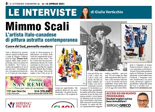 Intervista a Mimmo Scali: l'artista italo-canadese di pittura astratta contemporanea – di Giulia Verticchio