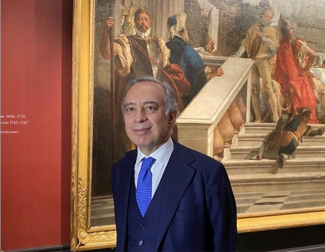 """L'ambasciatore Terracciano all'inaugurazione della mostra """"Vita a Mosca di Giambattista Tiepolo e suo figlio Giandomenico"""" al Museo Pushkin"""