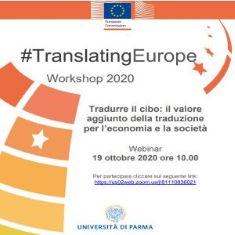 TRADURRE IL CIBO: IL SEMINARIO DI TRANSLATING EUROPE