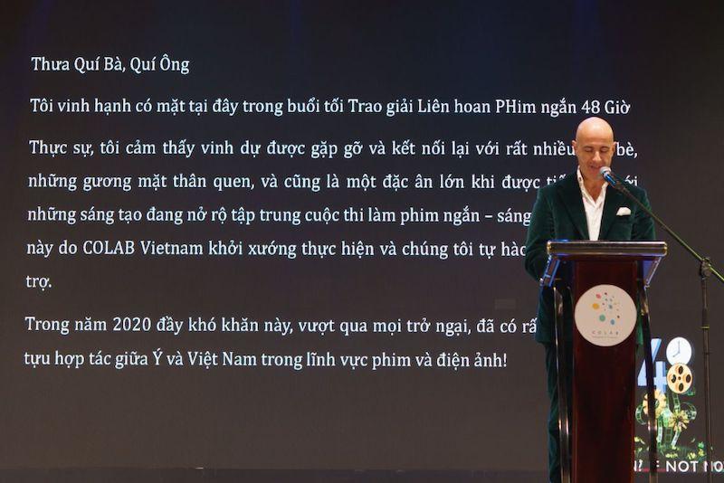 Ho Chi Minh City: il console generale Brandi alla cerimonia di premiazione del 48HFP