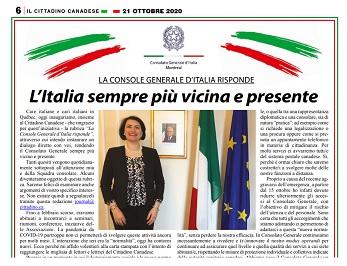 L'ITALIA SEMPRE PIÙ VICINA E PRESENTE – di Silvia Costantini