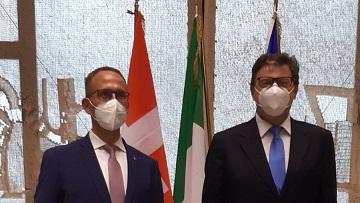 Cooperazione transfrontaliera: Giorgetti incontra Gobbi (Canton Ticino)