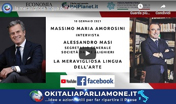 """La meravigliosa lingua dell'arte: Masi (Dante) a """"Ok Italia, parliamone"""""""