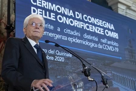 MATTARELLA: ABBIAMO FIDUCIA NELL'ITALIA