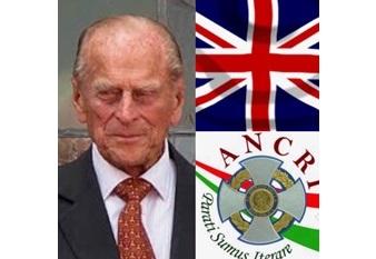 Il cordoglio dell'Ancri nel Regno Unito per la scomparsa del Principe Filippo