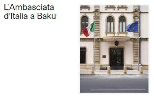"""""""L'Ambasciata d'Italia a Baku"""": i luoghi della diplomazia italiana in Azerbaijan"""