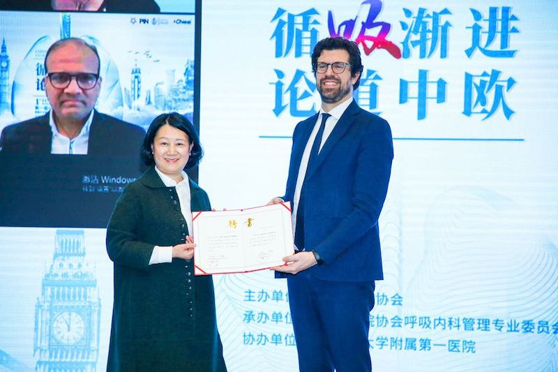 "Il vice console Castellani al ""1st Sino-EU International Respiratory Forum"" di Chongqing"