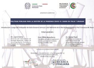 Politiche pubbliche per la gestione della pandemia Covid: l'Ambasciata a Montevideo per la Giornata della Ricerca