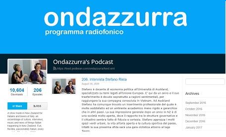 ONDAZZURRA: COMPIE 4 ANNI L'UNICA TRASMISSIONE RADIOFONICA ITALIANA IN NUOVA ZELANDA