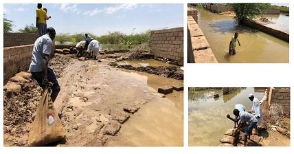PIOGGE IN SUDAN: L'AICS DISTRIBUISCE SACCHI E SABBIA A 1.500 FAMIGLIE