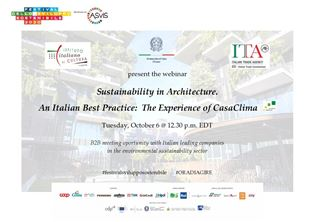 """SUSTAINABILITY IN ARCHITECTURE. AN ITALIAN BEST PRACTICE"": IL WEBINAR DEL SISTEMA ITALIANO IN CANADA"