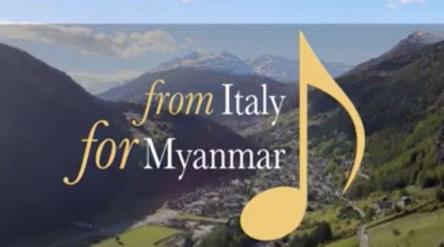 """""""From Italy for Myanmar"""": un video-concerto fra le montagne della Valtellina inaugura la stagione 2021 dell'Ambasciata d'Italia a Yangon"""