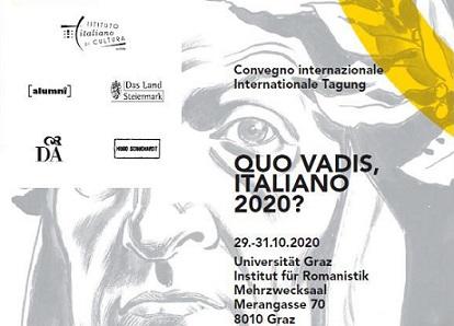 """""""QUO VADIS, ITALIANO 2020?"""": IN AUSTRIA TRA PAROLE IMMAGINI E TESTI PER LA SETTIMANA DELLA LINGUA ITALIANA"""