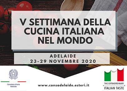 FINE LOCKDOWN AD ADELAIDE: RIAPRE IL CONSOLATO E SI APRE LA SETTIMANA DELLA CUCINA ITALIANA