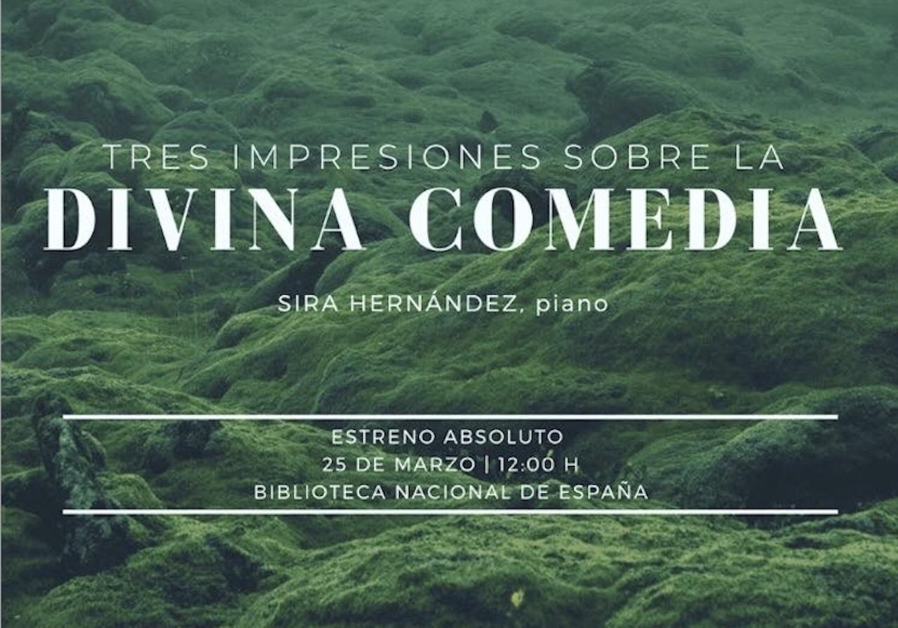 La pianista spagnola Sira Hernández celebra il 700° della scomparsa di Dante Alighieri