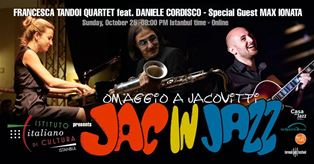 """JAC IN JAZZ"": ISTANBUL OMAGGIA JACOVITTI"