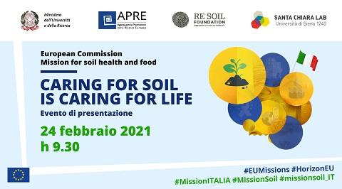 Horizon Europe - Mission Soil Health and Food: domani la presentazione della Missione