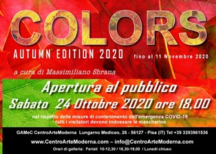"""COLORS: AUTUMN EDITION 2020"" ALLA GAMEC DI PISA"