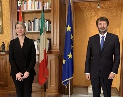 IL MINISTRO FRANCESCHINI INCONTRA LA COLLEGA ALBANESE MARGARITI