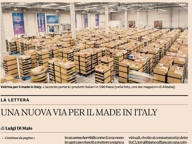 UNA NUOVA VIA PER IL MADE IN ITALY: LA LETTERA DEL MINISTRO DI MAIO AL SOLE 24 ORE