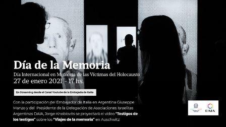 """""""Testimoni dei testimoni"""": la giornata della memoria a Buenos Aires"""