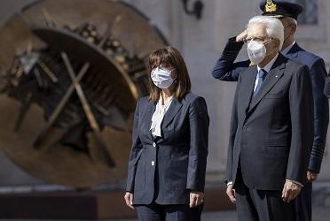 Bicentenario della rivoluzione greca: il messaggio di Mattarella alla presidente Sakellaropoulou