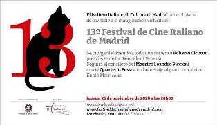 FESTIVAL DEL CINEMA ITALIANO DI MADRID: INIZIA DOMANI LA 13ª EDIZIONE