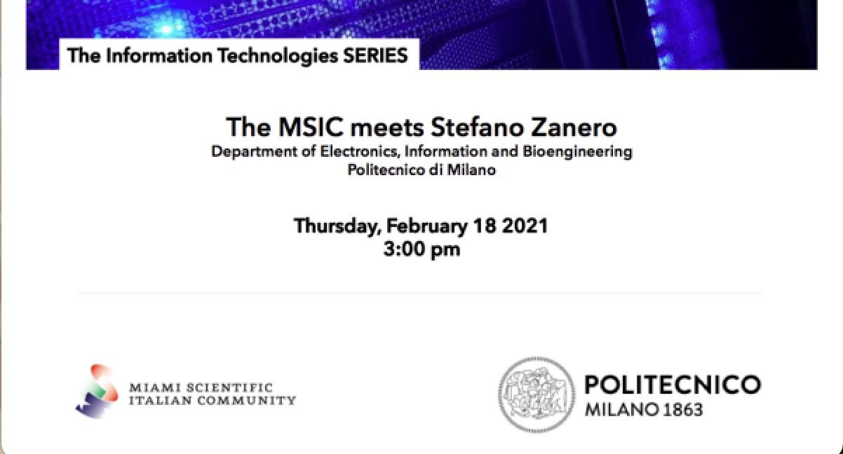 Stefano Zanero ospite della Miami Scientific Italian Community per la serie dedicata alle Information Technologies