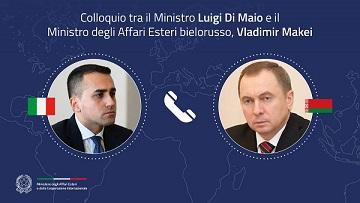 ITALIA – BIELORUSSIA: COLLOQUIO TELEFONICO DEL MINISTRO DI MAIO CON VLADIMIR MAKEI