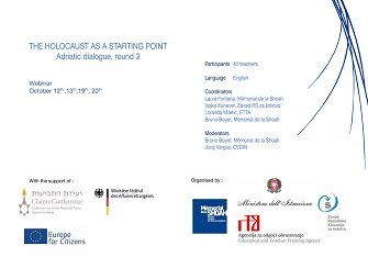 """THE HOLOCAUST AS A STARTING POINT - 3RD EDITION"": APERTA LA SELEZIONE PER 12 DOCENTI ITALIANI"