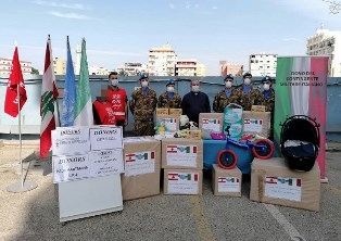 MISSIONE IN LIBANO: NUOVE DONAZIONI DI MILITARI ITALIANI AD ASSOCIAZIONI DI VOLONTARIATO