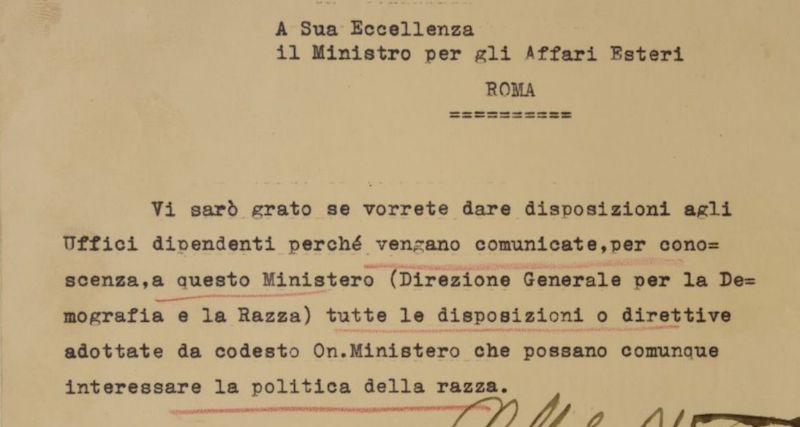 """Giorno della Memoria: on line la mostra """"Il Ministero degli Affari Esteri e la questione ebraica 1938-1943"""""""