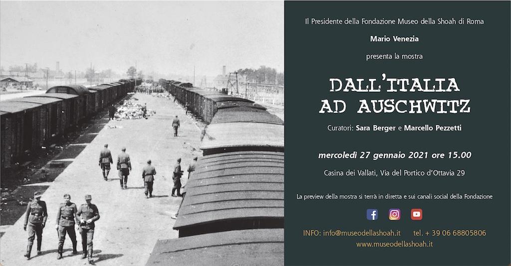 """""""Dall'Italia ad Auschwitz"""": la mostra della Fondazione Museo della Shoah di Roma"""