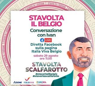 STAVOLTA IL BELGIO: DOMANI DIRETTA ONLINE CON IVAN SCALFAROTTO