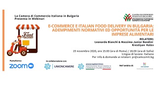 E-COMMERCE E ITALIAN FOOD DELIVERY IN BULGARIA: IL SECONDO WEBINAR DELLA CCIB