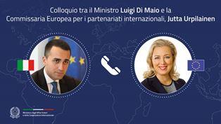 Colloquio telefonico del Ministro Di Maio con la Commissaria ai Partenariati Internazionali Jutta Urpilainen
