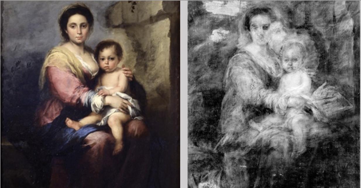 Gallerie Nazionali di Arte Antica di Roma: i primi risultati del restauro della Madonna del latte di Murillo rivelano la presenza di un altro dipinto