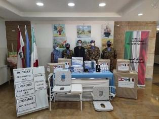 LIBANO: I MILITARI ITALIANI DONANO FARMACI E MATERIALI ALL'OSPEDALE PSICHIATRICO DI BURJ ASH SHAMALI