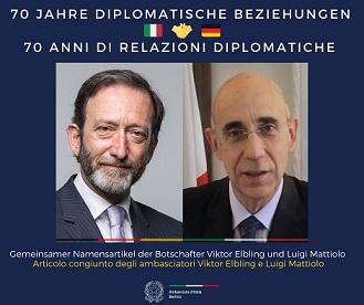 """""""I 70 anni di Roma e Berlino, insieme per crescere"""": gli ambasciatori Elbing e Mattiolo sul """"Messaggero"""""""