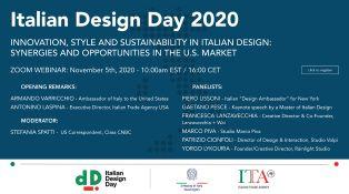 ITALIANI DESIGN DAY: L'AMBASCIATORE VARRICCHIO AL WEBINAR SULLE OPPORTUNITÀ PER IL MADE IN ITALY NEL MERCATO USA