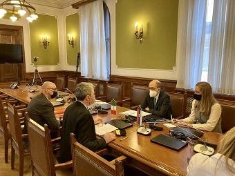 Belgrado: l'Ambasciatore Lo Cascio incontra il Presidente della Commissione Affari Esteri Obradovic